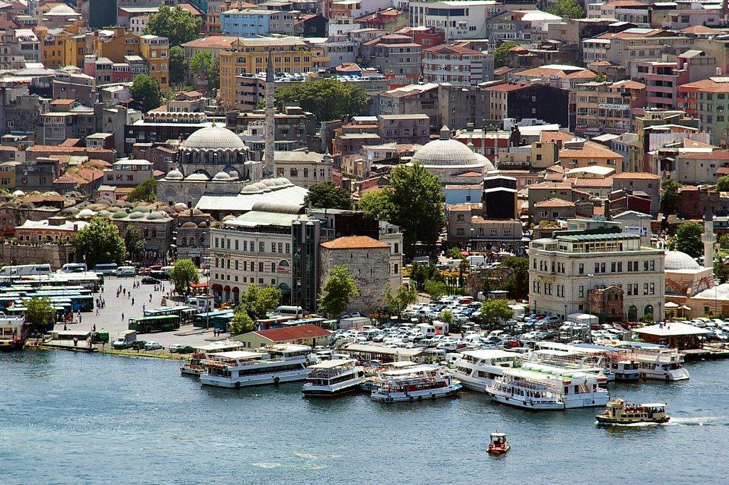 Eminönü district and ferry terminal